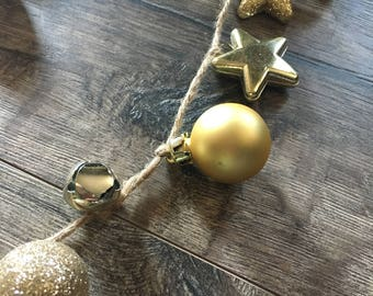 Gold Ornament Garland