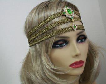Great Gatsby headpiece, 1920s headband, Flapper headpiece, Gatsby headband, Vintage Inspired, Roaring 20s,  Art Deco, 1920s hair accessory