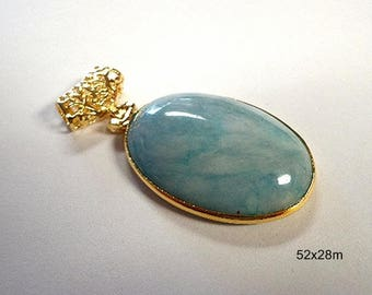 Beautiful Natural Larimar Gemstone with a Slider Bail Pendant!!!