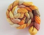 Corriedale,Rosefiber,Honey Mouse, top, handpainted fiber for spinning, 120g