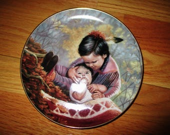 Arteffects Tender Loving Care Limited Edition Plate from The Children of The Prairie Collection