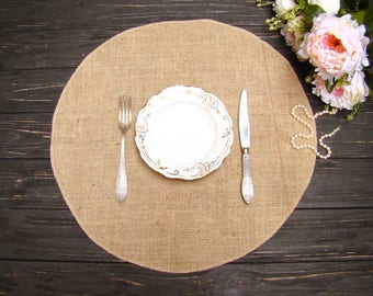 round table placemat circular wedding centerpiece burlap overlays table mat country table topper rustic chic decor