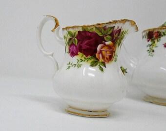 Vintage Royal Albert Old Country Roses Cream Jug 1962 - 1973