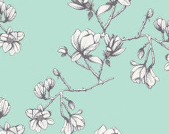 Fabric - Art Gallery - Magnolia Study Fresh From Wild Bloom Designed By Bari J - cotton print.