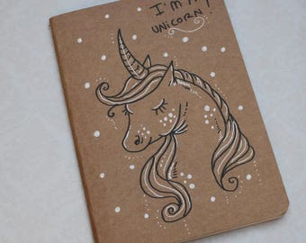 "Sketchbook - notebook Kraft ""I'm a Unicorn"""