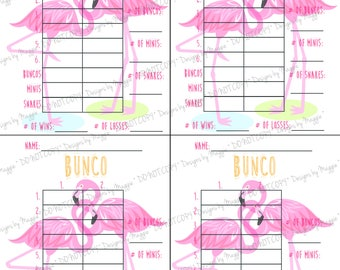 Bunco score card etsy for Free bunco scorecard template