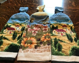 Crochet Kitchen Towels Set of 3