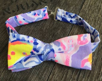 His & Her Lilly Pulitzer So Snappy Bow Tie and Bow Bracelet Set