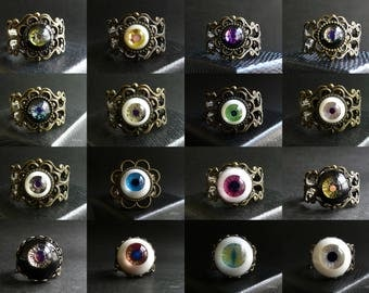 Eye Ball Ring with handmade urethane eye