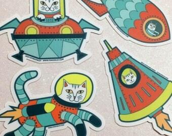 Space Cats Vinyl Sticker