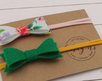 Felt Hair Band Duo- Spring & St. Patrick's Day