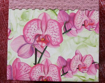 "Refillable notebook life deco ""orchids"""