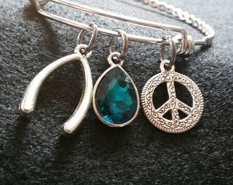 Good Luck Adjustable Bangle  Charm Bracelet