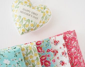 Personalised fabric heart, Mother's Day gift, hanging heart decoration
