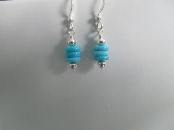 Turquoise Disc Earrings E616179