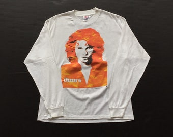 The Doors Rock And Roll Vintage 1991 50 50 Long Sleeve Tour shirt White Jim Morrison sweater size XL Paper Thin tri star pictures tee jays