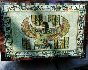 Winged Isis Wooden Storage Box
