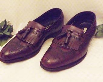 Vintage Florsheim Imperial Brogue Wingtip Tassel Loafer Size 9 . 5