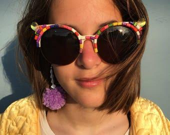 Funky beaded embellished sunglasses