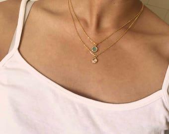 Mini Sheaj Twin Necklace