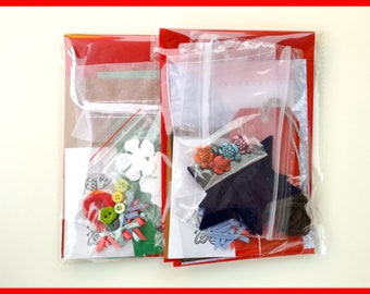 Scrapbooking Supplies / Paper Value Craft Supply / Discount Paper Craft Kits / Paper Embellishments / Junk Journal Kit / Red