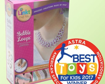Bubble Loops by Linkt Craft Kits - 5 Necklaces/Bracelets - DIY jewelry - Tween Crafts - chainmaille bracelet kit