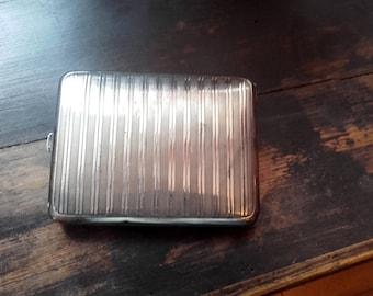 Vintage 50's EPNS striped design Cigarette Case