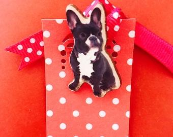 I Adore Pugs Brooch pin