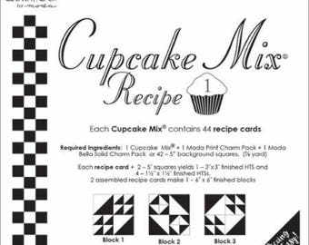 Cupcake Recipe Cards - Miss Rosie's Quilt Company Patterns for Charm Packs Set #1