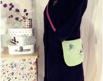 Garden green wool bag