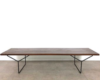 Early Harry Bertoia Slat Bench for Knoll Assoc. 1950's