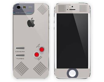 iPhone vinyl skin Retro game console iPhone 7 skin iPhone 6 skin iPhone 5 skin Gray skin for iPhone Sticker iphone #retrogame
