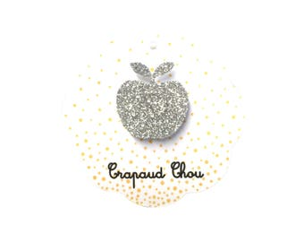 Ring Apple silver glitters