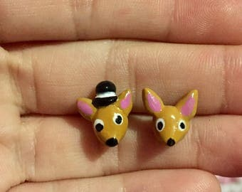 Cute Chihuahua Stud Earrings