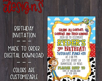 Toy Story Birthday Invitation