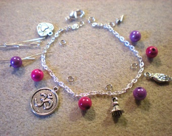 KIT * Indian YOGA bracelet with violet colors * to do it yourself