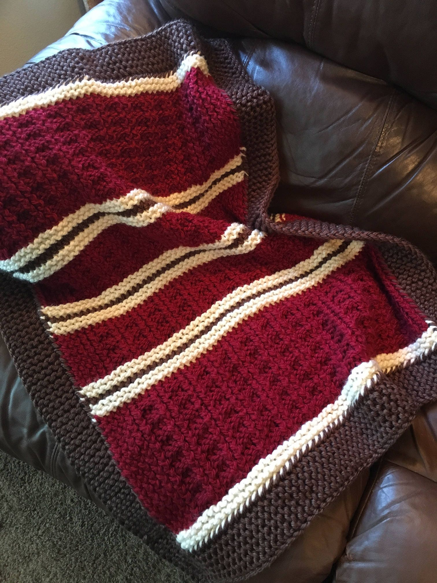Knitting Loom Patterns Baby Blanket : Mountain Cabin Baby Blanket -- a loom knit pattern