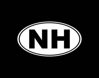 New Hampshire Decal NH Car Decal Laptop Window Wall Yeti Tumbler Tablet Bumper Sticker  etc.. New Hampshire Car Decal NH State Decal
