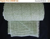 50% OFF Sale Entire Store 100 Percent Handmade Cotton Quilt -  Olive Green Color