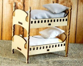 Bunk Bed For Dolls Wood Bed For Dolls Wood Baby Doll Bed Wood Dollhouse Bed  Wood