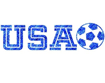 USA Soccer Ball Iron On Decal