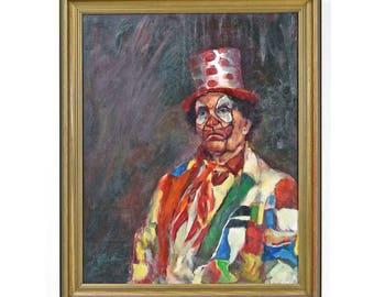 Clown Portrait Oil Painting