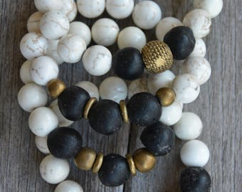 African Trade Bead Bracelets (Black)