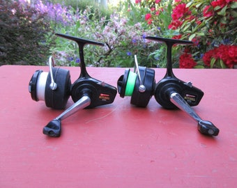 2 Vintage Garcia Mitchell 320 Spinning Fishing Reels Reel Made in France