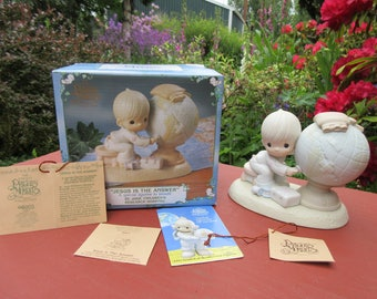 """Vintage Precious Moments """"Jesus Is The Answer"""" Special Figurine St Jude Childrens Hospital"""