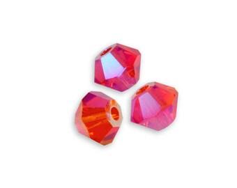 20 bicone 4 mm Hyacinth ab2x Swarovski Crystal