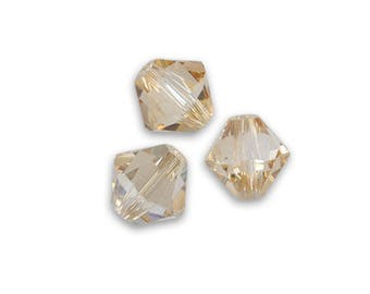 20 Swarovski 4mm Crystal Golden Shadow Swarovski Crystal bicone beads