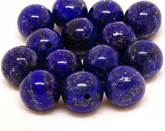 1 set of 5 beads 8mm LAPIS LAZULI round stone