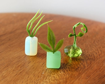 Set of 3 Miniature Vases - So Fresh and So Green