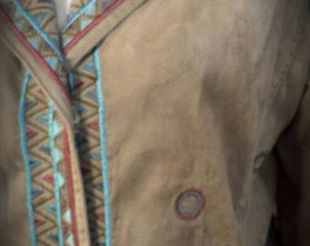 Tribal Embroidered Woman's Blazer Jacket